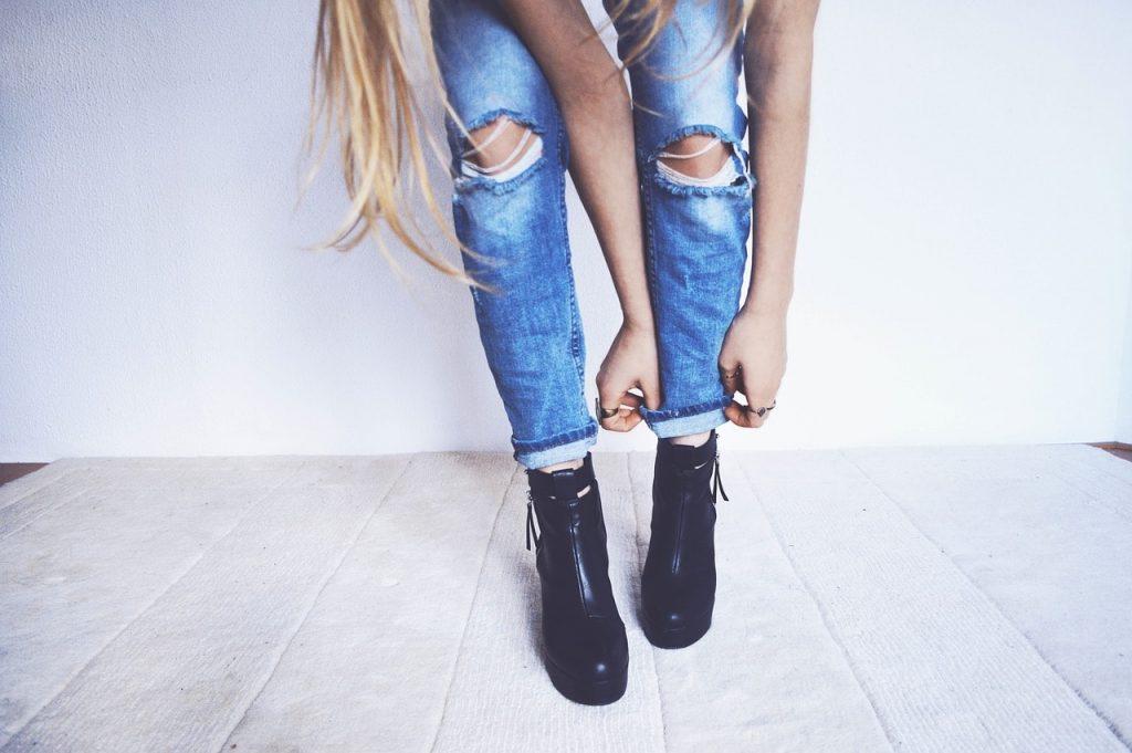 jean slim a la taille