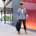 porter chemise jean