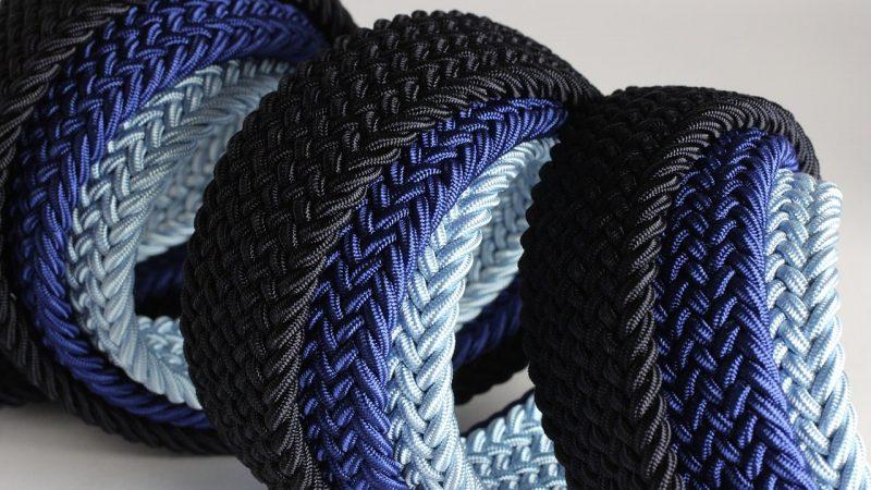 ceinture tressé tissu